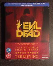 EVIL DEAD Blu-Ray SteelBook 2013 Zavvi UK Exclusive Ltd Ed 2-Disc B/2. OOP Rare!
