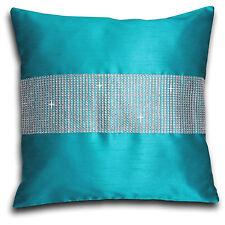 """Faux Silk Diamante Cushion Covers 18"""" x 18"""""""