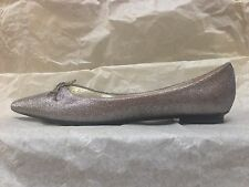 New Marc Jacobs Metallic Silver Fabric/leather Flats 35.5/5.5