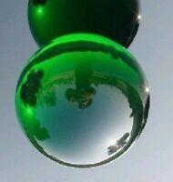 Asian Natural Quartz Green Magic Crystal Healing Ball Sphere 40mm + Stand #j81