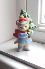 Kitty Cucumber J.P. Buster with Christmas Tree Figurine 1989 B Shackman Schmid
