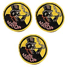New listing Penguin for Mayor 3 Inches Diameter Embroidered Set of 3 Patches