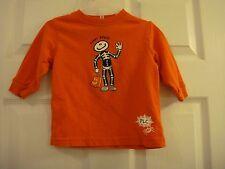 Boy Girl  Infant Toddler 12 mo Halloween Funny Bones! Orange long sleeved shirt