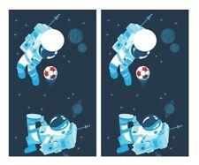 Astronaut Kicking Soccer Cornhole Board Vinyl Decal Wrap Sticker Skin Funny Joke
