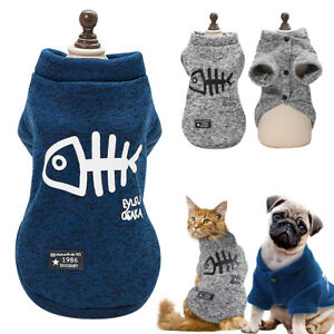 Warm Puppy Clothes Pet Cat Small Dog Clothes Jacket Coat Sweater Dog Vest S-2XL