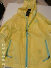The North Face Girls Jacket Size 7-8 s/p Yellow Full Zip Windbreaker Outerwear