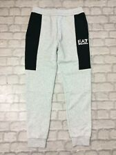 EMPORIO ARMANI EA7 MENS UK M GREY EA7 SIDE PANEL PANTS JOGGERS JOGGING BOTTOMS