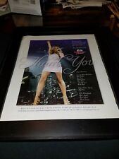 Celine Dion Rare Miami American Airlines Arena Concert Promo Poster Ad Framed!
