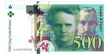 France Billet 500 FRANCS ( 1994 - 1995 ) P160 PIERRE ET MARIE CURIE BON ETAT