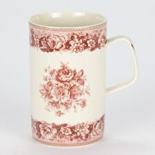 NEW Set of 4 Coffee Tea Mug antique style floral rose porcelain shabby chic