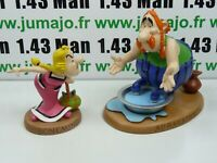 Figurine Plastoy ATLAS résine Scène Asterix : Abraracourcix et Bonemine Bain de