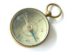 Antique Maritime Brass Magnetic Compass Pendant, Pocket-sized, Spain