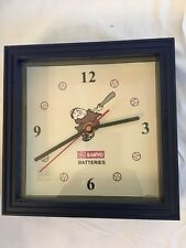 SANYO BATTERIES  **BASEBALL CLOCK**--UNIQUE --RARE--NONE LIKE IT--EUC