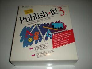 Timeworks Publish-It! 3 desktop publishing for Apple IIc, GS, 2e (enhanced). New