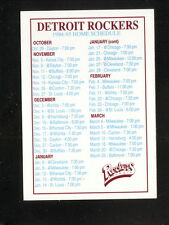 Detroit Rockers--1994-95 Home Pocket Schedule--CPI Photo Finish--NPSL