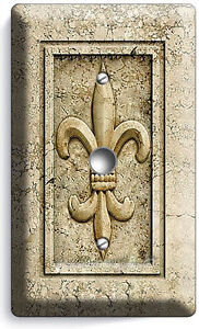 ROYAL FLEUR DE LIS LIGHT DIMMER VIDEO CABLE WALL PLATE SWITCH COVER ROOM DECOR