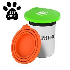 Set of 2 Silicone Universal Dog Cat Food Can Lids Fits 3 Sizes of Cans
