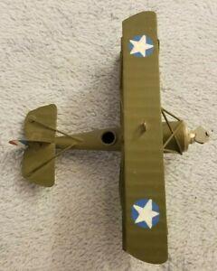 Metal Toy Airplane - Triplane w/ Propeller - Flying - Model - Vintage?