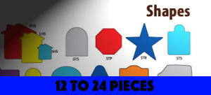 Sign Shapes in die-cut Coroplast (for 12 to 24 pieces)
