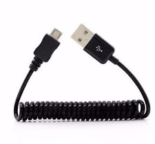 Fast Charge & Data - Micro USB Charging Cable for Samsung LG Short Coil Spiral
