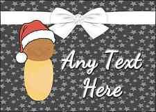 Navidad marrón Bebé Navidad Personalizado Impreso Certificado