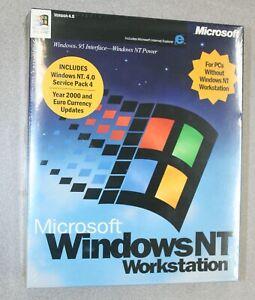 Microsoft Windows NT Workstation 4.0 SP4 CD UPC 659556079192 Rarer Big Box Pkg.