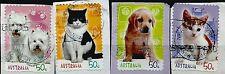 ˳˳ ҉ ˳˳AU397 Australia 50 cents set 2004 different Used Cats & Dogs Animals