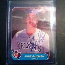 1986 Fleer Jose Guzman Auto Signed Card
