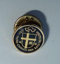 Canada 1984 Papal Visit Lapel Hat Pin