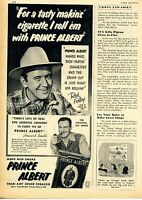 1952 Print Ad of Prince Albert Tobacco Red Foley Grand Ole Opry Star