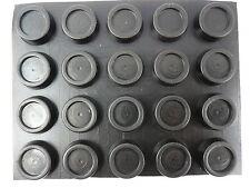 FY 20pcs Rubber Feet Round self adhesive 14/15 mm Ø x 6mm th slip free BLACK