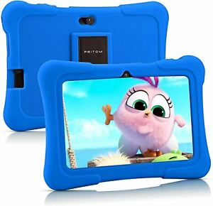 Pritom 7 inch Kids Tablet, Quad Core Android,1GB RAM+16GB ROM, WiFi,Bluetooth,Du