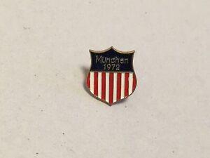 1972 MUNCHEN OLYMPIC PIN BADGE USA NOC PINS