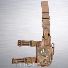 Tactical Drop Leg Assault Holster Genuine Multicam MTP Pattern - Military Grade