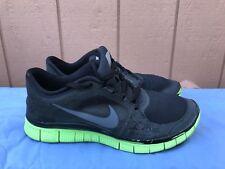 NIKE H2O Repel Free Run 3 Black Green Sneakers Men's US 9.5 Running A5