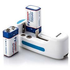 2 9v pp3 Batteries Li-ion MN1604 High Drain Smoke Alarm 9v Rechargeable Charger