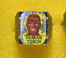 1966 GOLD Marvel Super Heroes Club FLICKER RING - HUMAN TORCH & DOCTOR DOOM FF