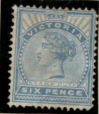 Australia Victoria 1886 6d Six Pence blue SG318 Unused Mint no gum (?) See note