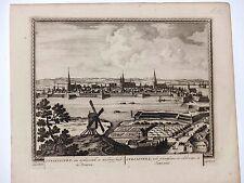Stralsund Deutschland Gesamtansicht Kupferstich Peter Schenk 1702