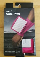 Nike Pro Dri-Fit Control Playcoach Pink Adult Size Football Qb Arm Plays 129862