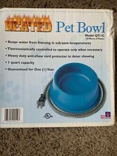 Farm Innovators QT-1 25 Watt Green Heated Pet  Dog, Cat Water Bowl