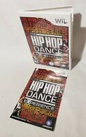Case & Manual Replacement NO DISC The Hip Hop Dance Experience Nintendo Wii 2012