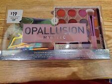 Bh Cosmetics Opallusion Mystic Palette, Liner, Shader Brush & Makeup Bag Set New