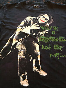 "Vintage Dark Knight Joker ""Freak Like Me"" Heath Ledger Batman T-shirt  Rare"