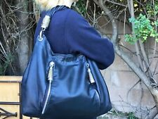 Authentic Michael Kors Tonne Navy Leather  Hobo Handbag With Python Accent $950