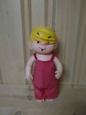 """1958 DENNIS THE MENACE RUBBER DOLL  TALL 13"""" VERSION VINTAGE"""