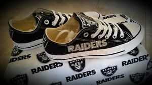 Oakland Raiders  Canvas Womens Sneakers