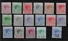Bahamas, 1938 KGVI  definitives, almost complete set  LMM ** (B024)
