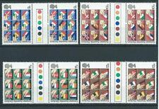COMMEMS - 1979 - EEC ELECTIONS - GUTTER PAIRS - TRAFFIC LIGHTS  - UNM. MINT SETS