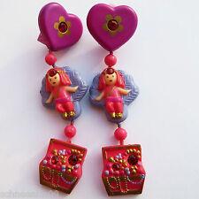 Mini Polly Pocket princesa Yasmin's dangly Earring rubin 2 aretes 1992